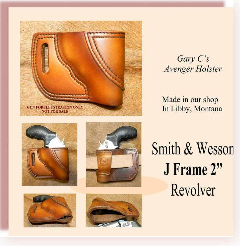Gary C's Leather Avenger Holster for Smith & Wesson J Frame 2
